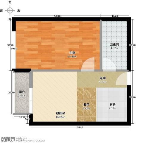 星光广场1室0厅1卫0厨47.00㎡户型图