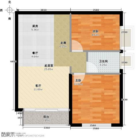 星光广场2室0厅1卫0厨56.00㎡户型图