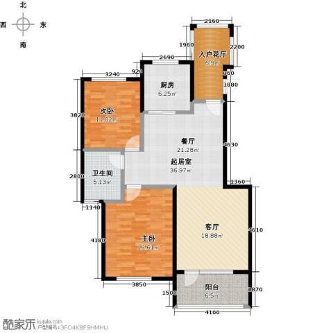 金融街・金色漫香苑2室0厅1卫1厨100.00㎡户型图