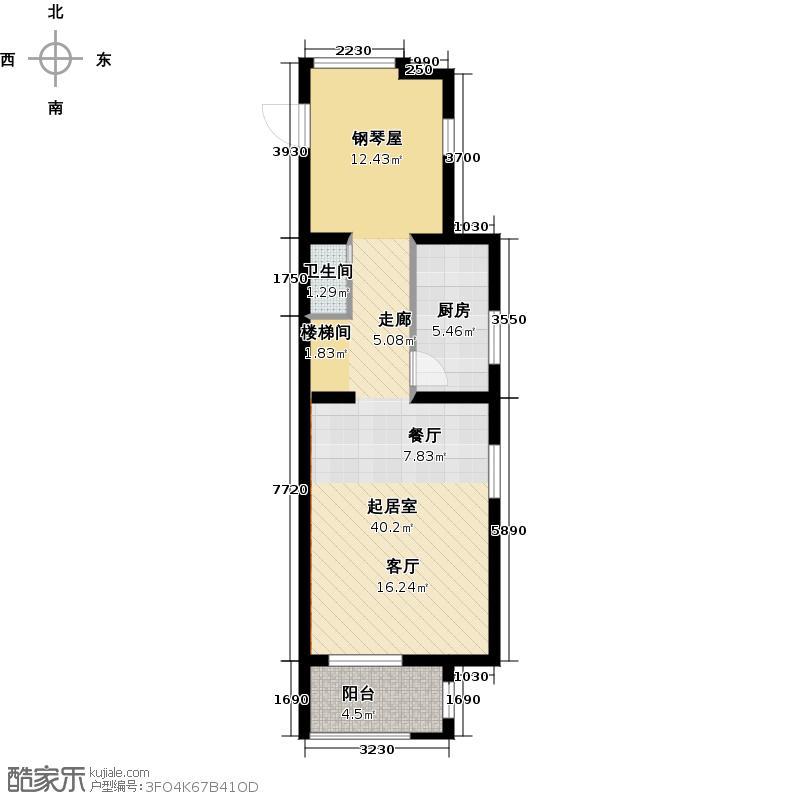 大华曲江公园世家118.65㎡C1底层户型1卫1厨