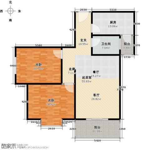 嘉怡豪庭2室0厅1卫1厨138.22㎡户型图