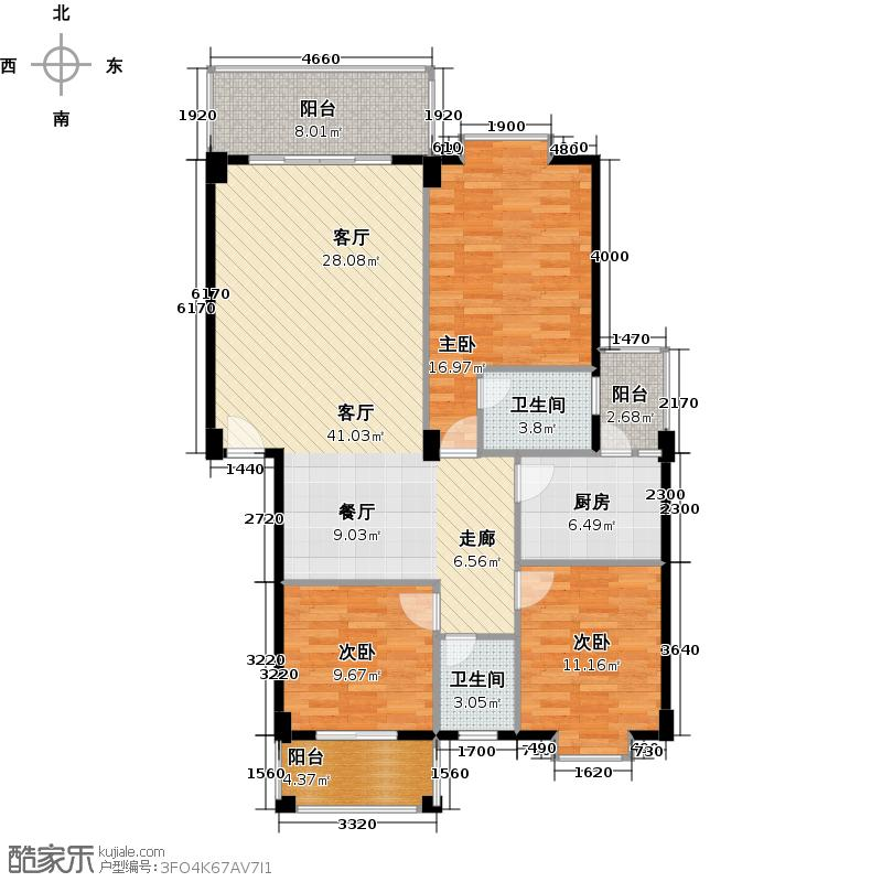 石滩第一城117.10㎡三期12栋02座0户型3室1厅2卫1厨