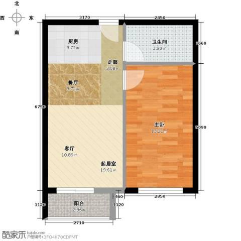 星光广场1室0厅1卫0厨58.00㎡户型图