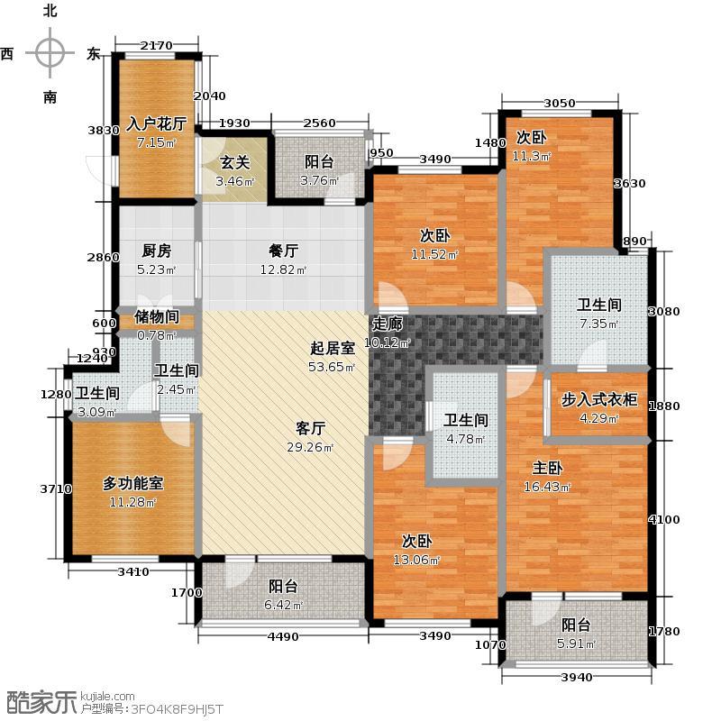 金融街・金色漫香苑188.00㎡户型4室3卫1厨