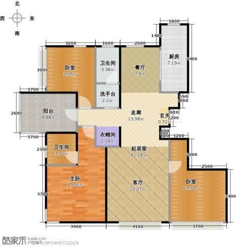 金隅花石匠1室0厅2卫1厨136.00㎡户型图