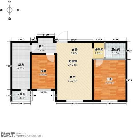 明城东岸2室0厅2卫1厨96.00㎡户型图