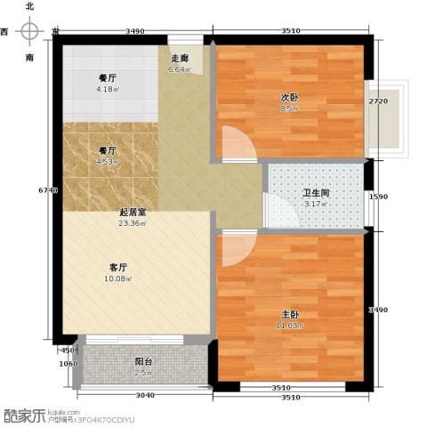 星光广场2室0厅1卫0厨72.00㎡户型图