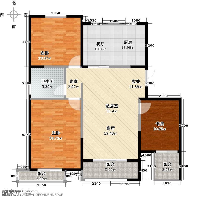弘泽城118.00㎡14号楼-C户型3室1卫1厨