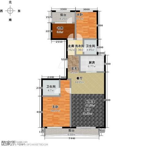 顺鑫・华玺瀚�3室0厅2卫1厨138.00㎡户型图