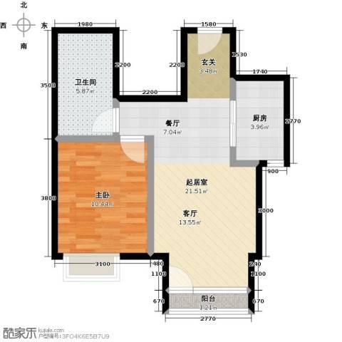 领秀慧谷1室0厅1卫1厨57.00㎡户型图