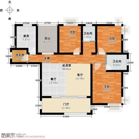 上上城3室0厅2卫1厨161.00㎡户型图