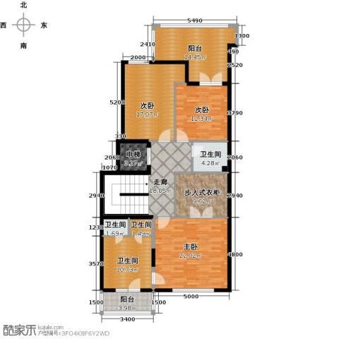 融科・千章墅3室0厅4卫0厨168.00㎡户型图