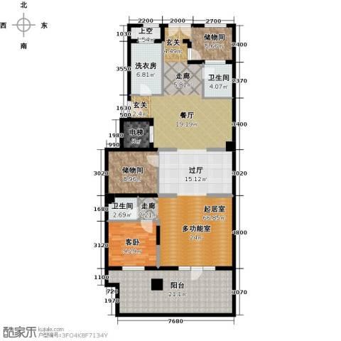融科・千章墅1室0厅2卫0厨184.00㎡户型图