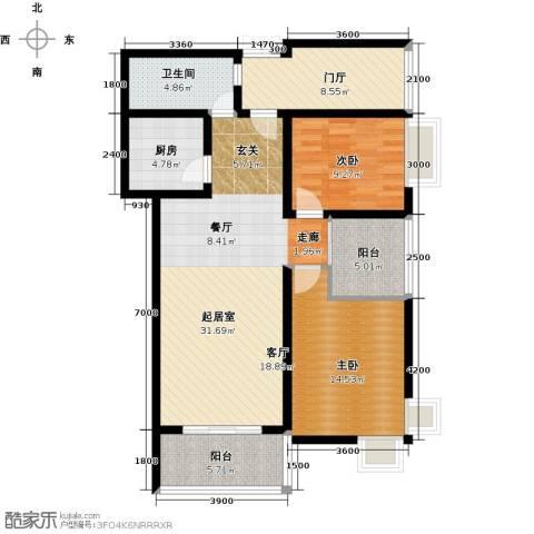 上上城2室0厅1卫1厨98.00㎡户型图