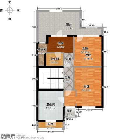 融科・千章墅2室0厅2卫0厨137.00㎡户型图