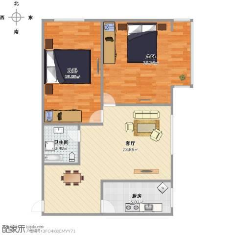 景苑公寓(萧山)2室1厅1卫1厨91.00㎡户型图