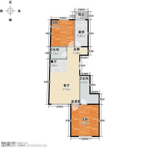 瑞雪春堂2室0厅2卫1厨86.00㎡户型图