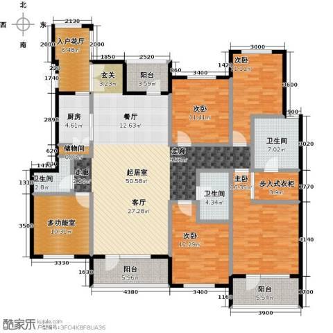 金融街・金色漫香苑4室0厅3卫1厨188.00㎡户型图