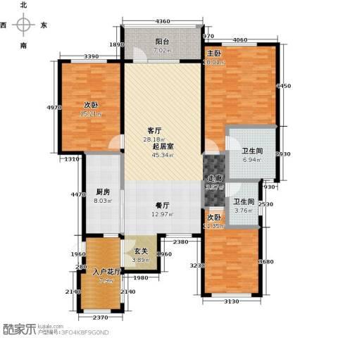 金融街・金色漫香苑3室0厅2卫1厨138.00㎡户型图