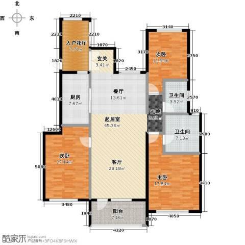 金融街・金色漫香苑3室0厅2卫1厨140.00㎡户型图