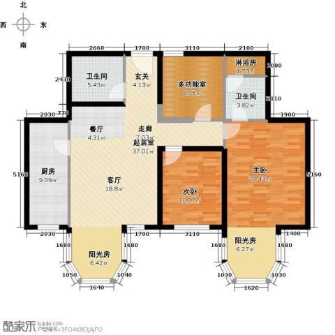 合生・滨江帝景2室0厅2卫1厨113.00㎡户型图
