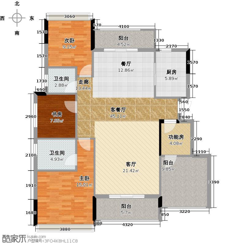 水悦龙湾140.00㎡19-24座B2~9层户型3室1厅2卫1厨