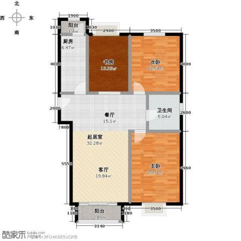 领秀慧谷3室0厅1卫1厨115.00㎡户型图
