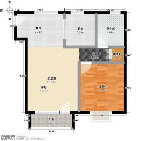 领秀慧谷1室0厅1卫1厨72.00㎡户型图