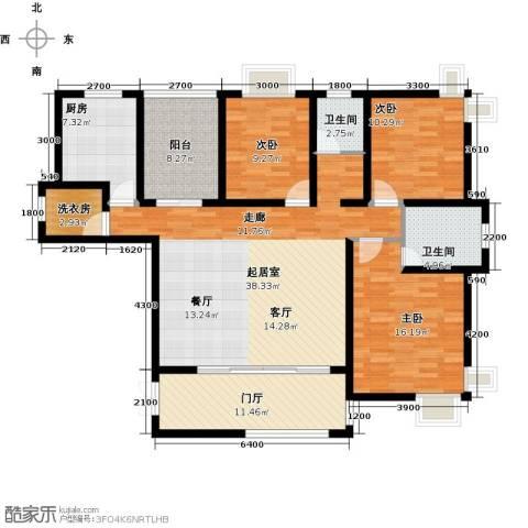 上上城3室0厅2卫1厨142.00㎡户型图