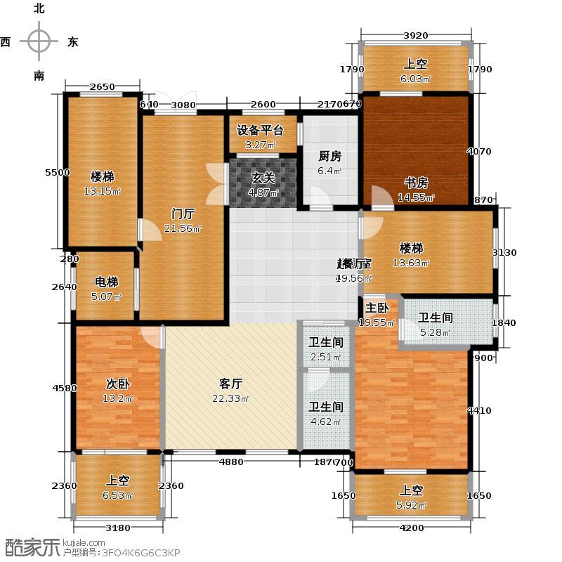 郡原相江公寓155.90㎡F-B1首层户型3室2厅2卫