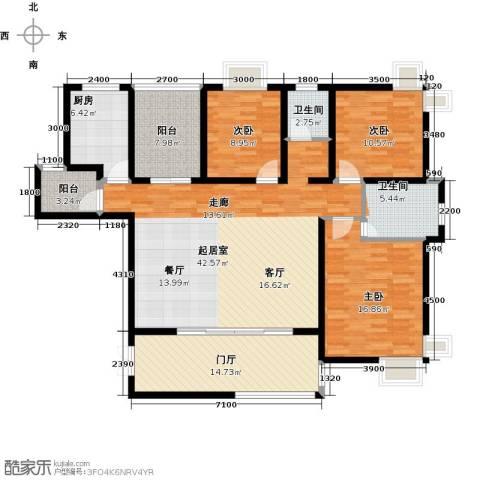 上上城3室0厅2卫1厨147.00㎡户型图