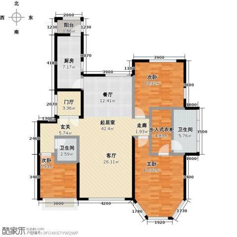 北京城建徜徉集3室0厅2卫1厨133.00㎡户型图
