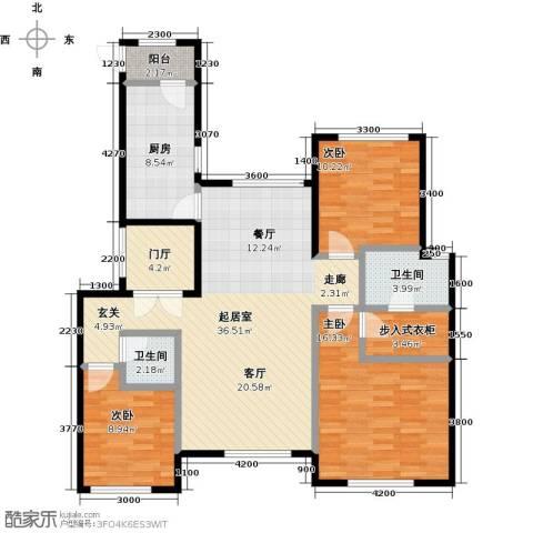 北京城建徜徉集3室0厅2卫1厨137.00㎡户型图