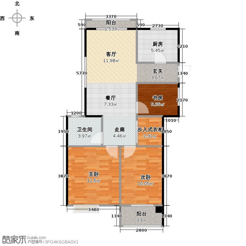 圣奥领寓89.00㎡户型10室