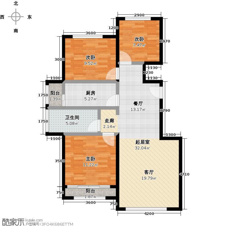 北京城建徜徉集103.00㎡G户型3室1卫1厨