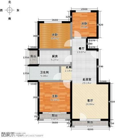 北京城建徜徉集3室0厅1卫1厨99.00㎡户型图