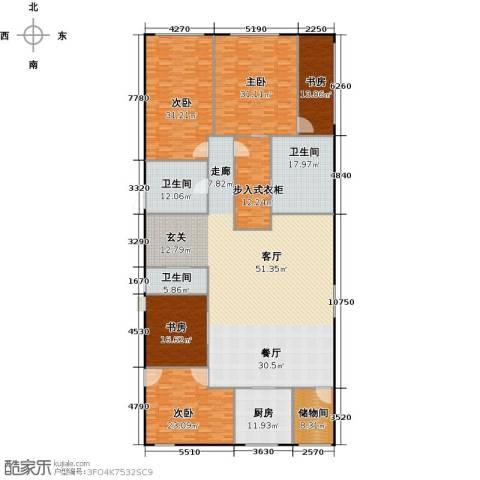 百大绿城西子国际4室2厅3卫0厨297.00㎡户型图