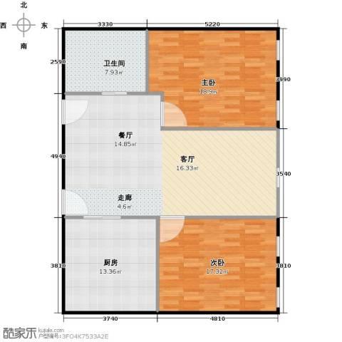 百大绿城西子国际2室2厅1卫0厨97.00㎡户型图