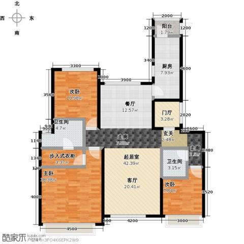 北京城建徜徉集3室0厅2卫1厨130.00㎡户型图