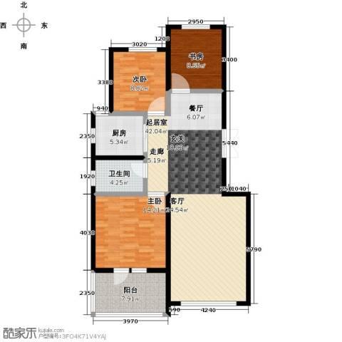 昂展公园里3室0厅1卫1厨107.00㎡户型图