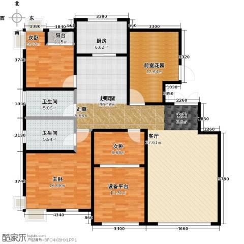 大苑・海淀名著3室0厅2卫1厨142.00㎡户型图