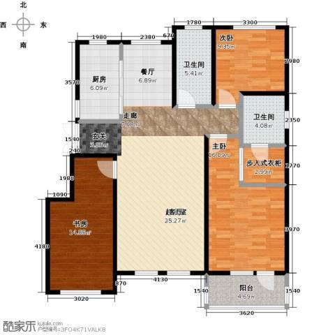 昂展公园里3室0厅2卫1厨129.00㎡户型图