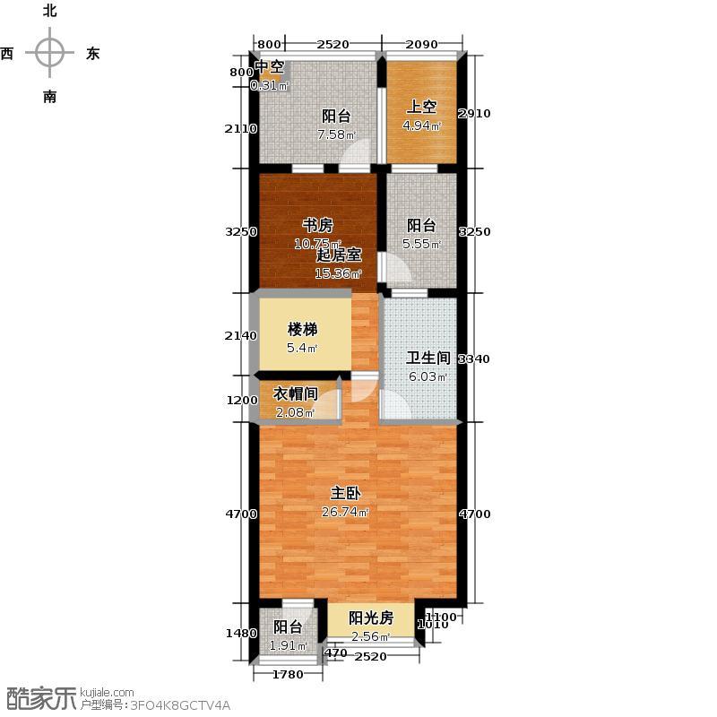 尚东庭81.87㎡A区A3号楼5单元三层户型1室1卫