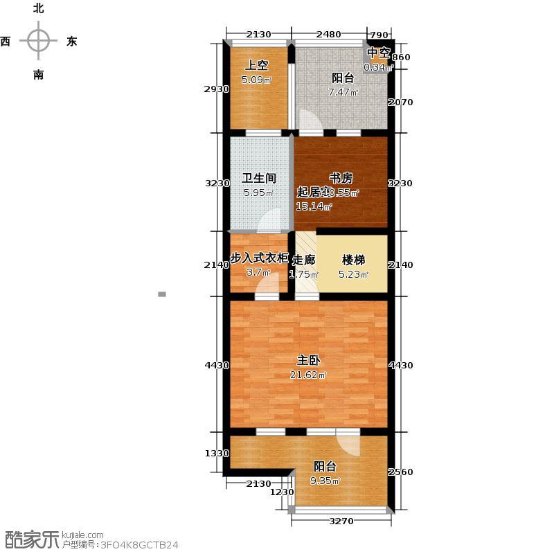 尚东庭79.93㎡A区A3号楼6单元三层户型1室1卫