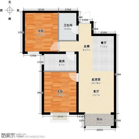 中国铁建・原香漫谷2室0厅1卫1厨95.00㎡户型图