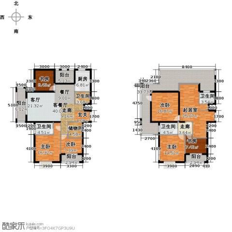 中乐百花公馆6室1厅4卫1厨311.00㎡户型图