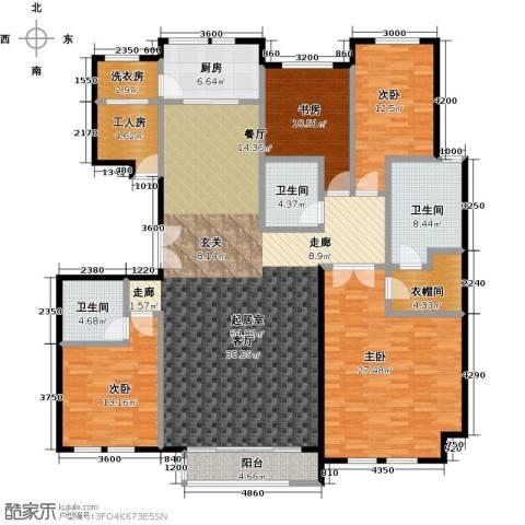 领秀・翡翠山4室0厅3卫1厨226.00㎡户型图