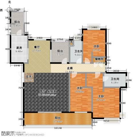 白塘壹号3室0厅2卫1厨195.00㎡户型图