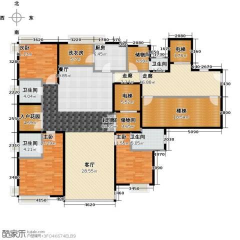 万通华府3室0厅4卫1厨260.00㎡户型图