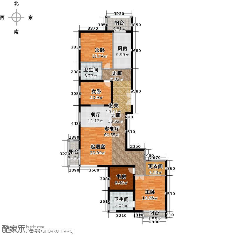 北京华侨城214.00㎡6号楼A户型4室1厅2卫1厨